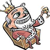 170x170 King Sitting On Throne Clipart
