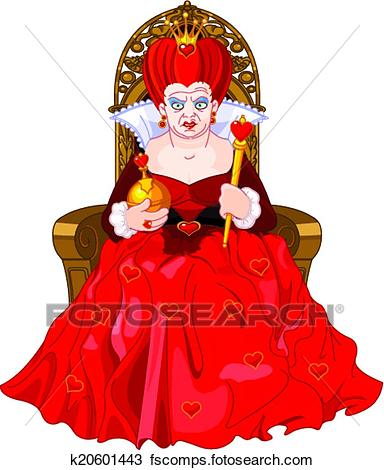 384x470 Clipart Of Angry Queen On Throne K20601443
