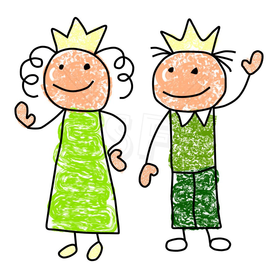900x900 King And Queen Clipart