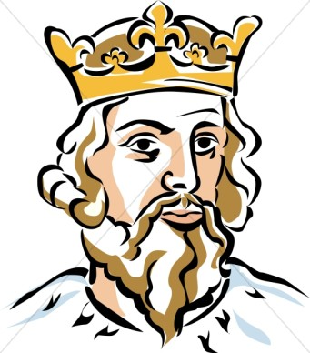341x388 King Black And White Clipart