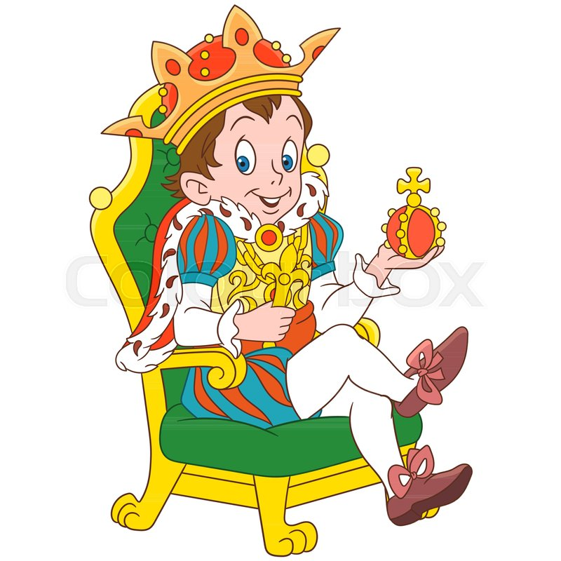 800x800 Cartoon Young King Or Prince, Isolated On White Background