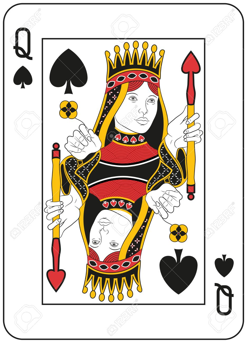 937x1300 1,212 Queen Of Spades Stock Illustrations, Cliparts And Royalty