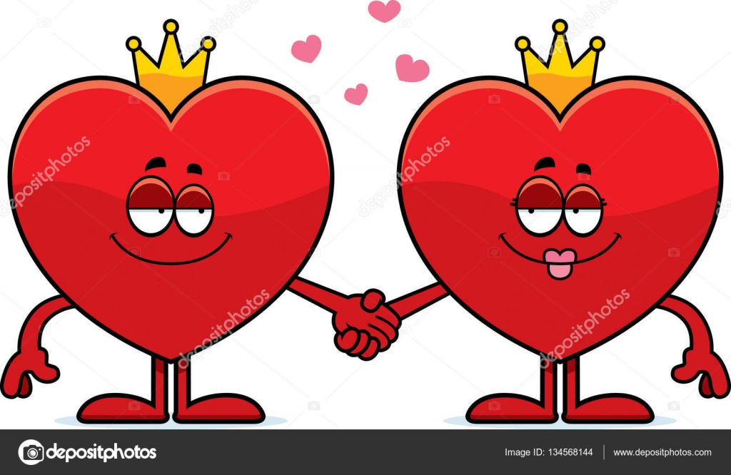1024x666 Cartoon King And Queen Of Hearts Stock Vector Cthoman