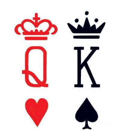 399x444 Best 25+ King queen tattoo ideas Queen tattoo