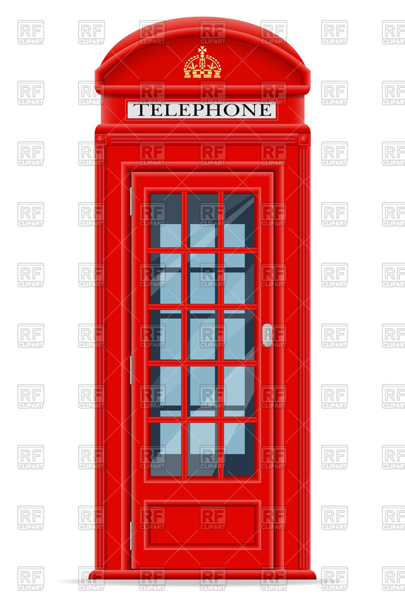 800x1200 London Phone Booth Royalty Free Vector Clip Art Image