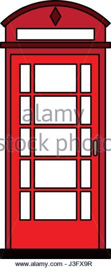 223x540 Telephone Kiosk Stock Vector Images
