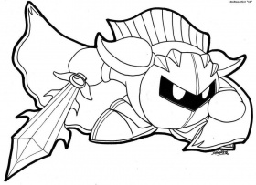 280x203 Free Printable Kirby Coloring Pages For Kids