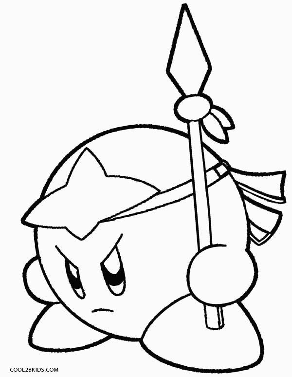 600x774 Interesting Kirby Coloring Pages 63 About Remodel Free Colouring