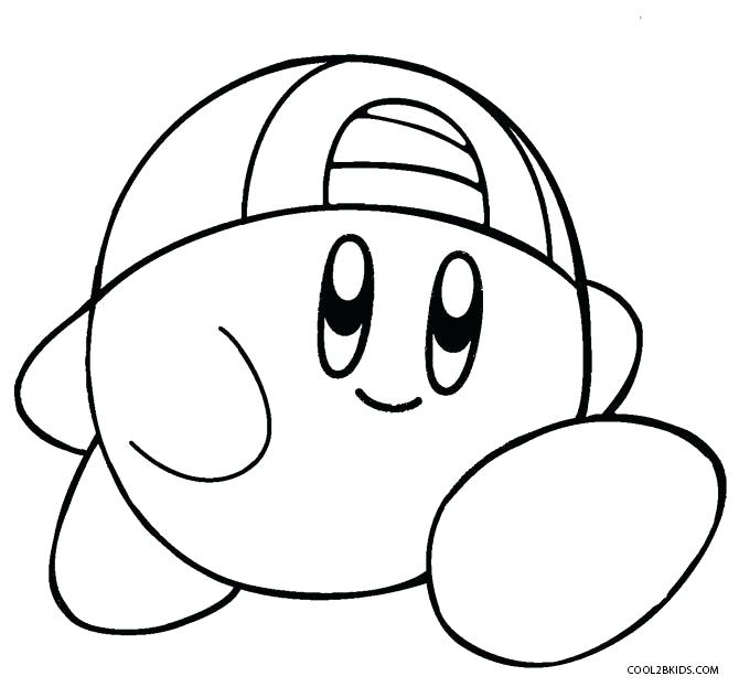 670x623 Kirby Characters Coloring Pages Printable Color Thaypiniphone