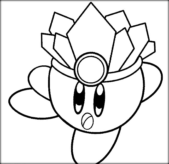 647x627 Kirby Coloring Pages