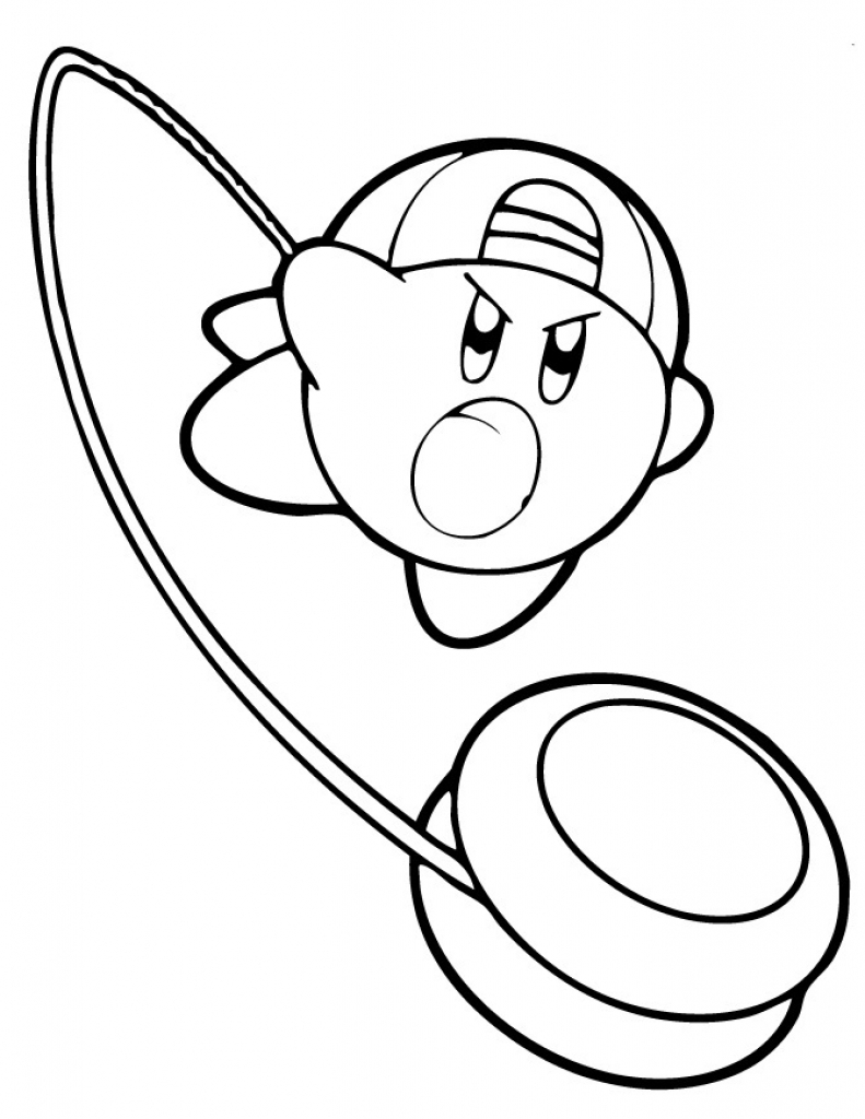 791x1024 Kirby Coloring Pages