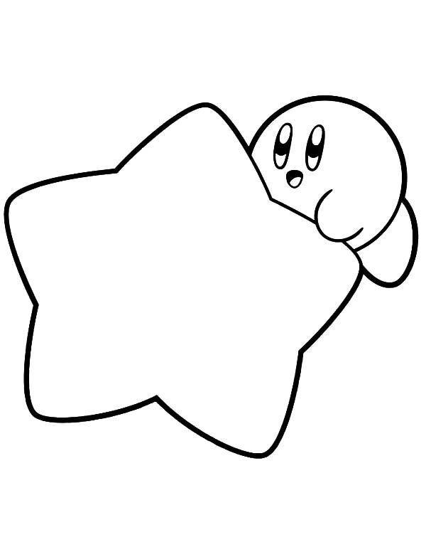 600x776 Kirby Coloring Pages With A Star