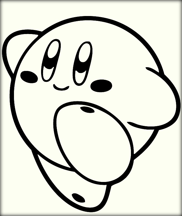 638x755 Nintendo Kirby Coloring Pages