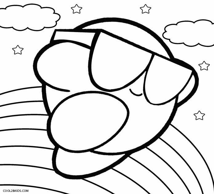 695x629 Printable Kirby Coloring Pages For Kids Cool2bkids Video Game