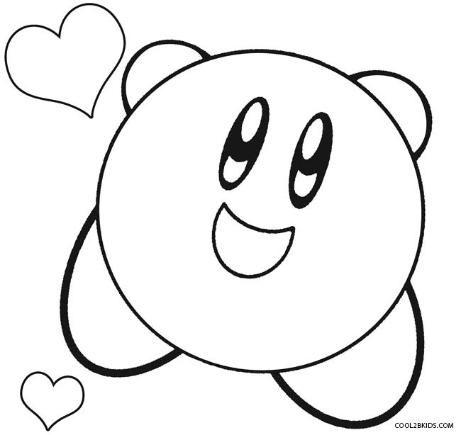 650x614 Printable Kirby Coloring Pages For Kids Cool2bkids