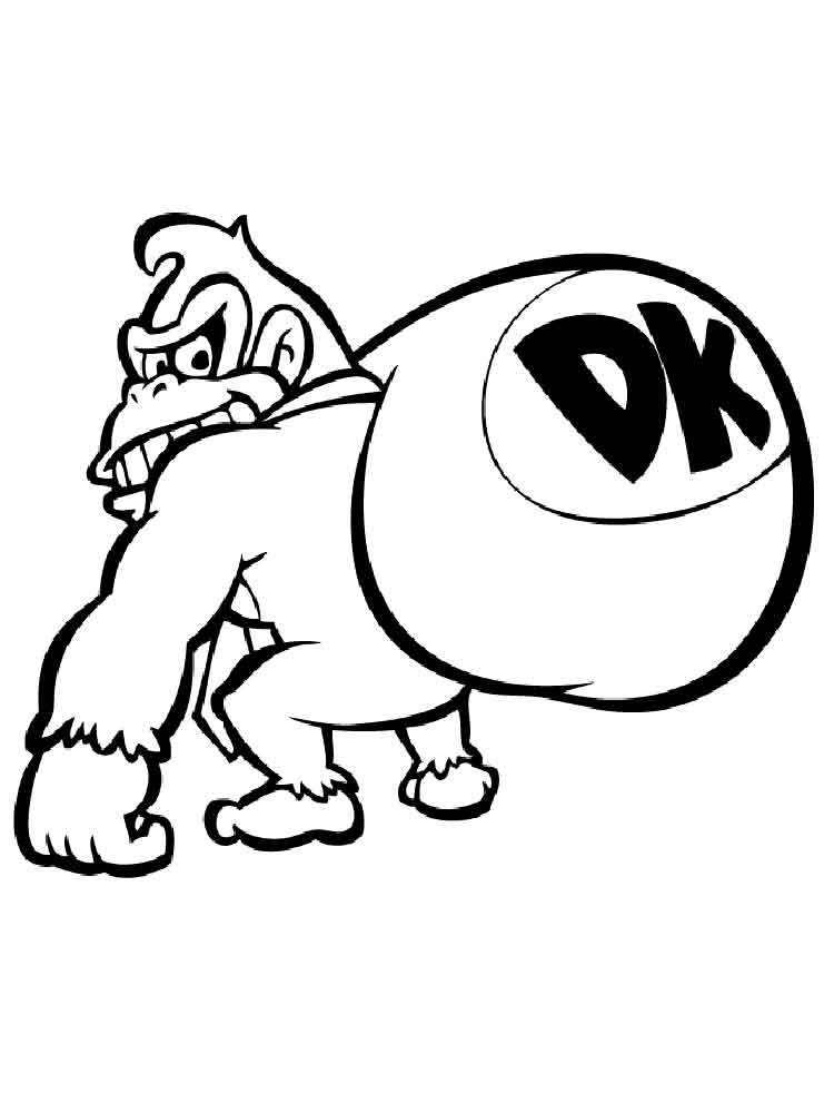 750x1000 Donkey Kong Coloring Pages. Free Printable Donkey Kong Coloring Pages.