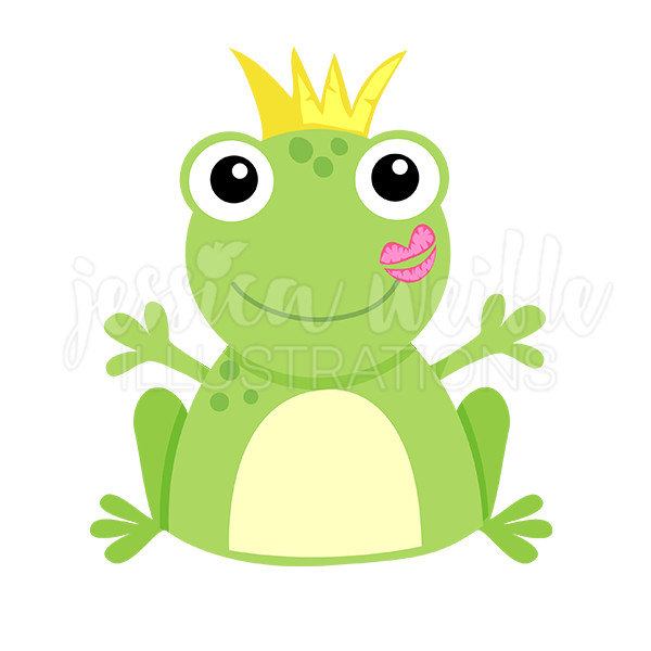 600x600 Kiss A Frog Cute Digital Clipart Frog Kiss Clip Art Frog
