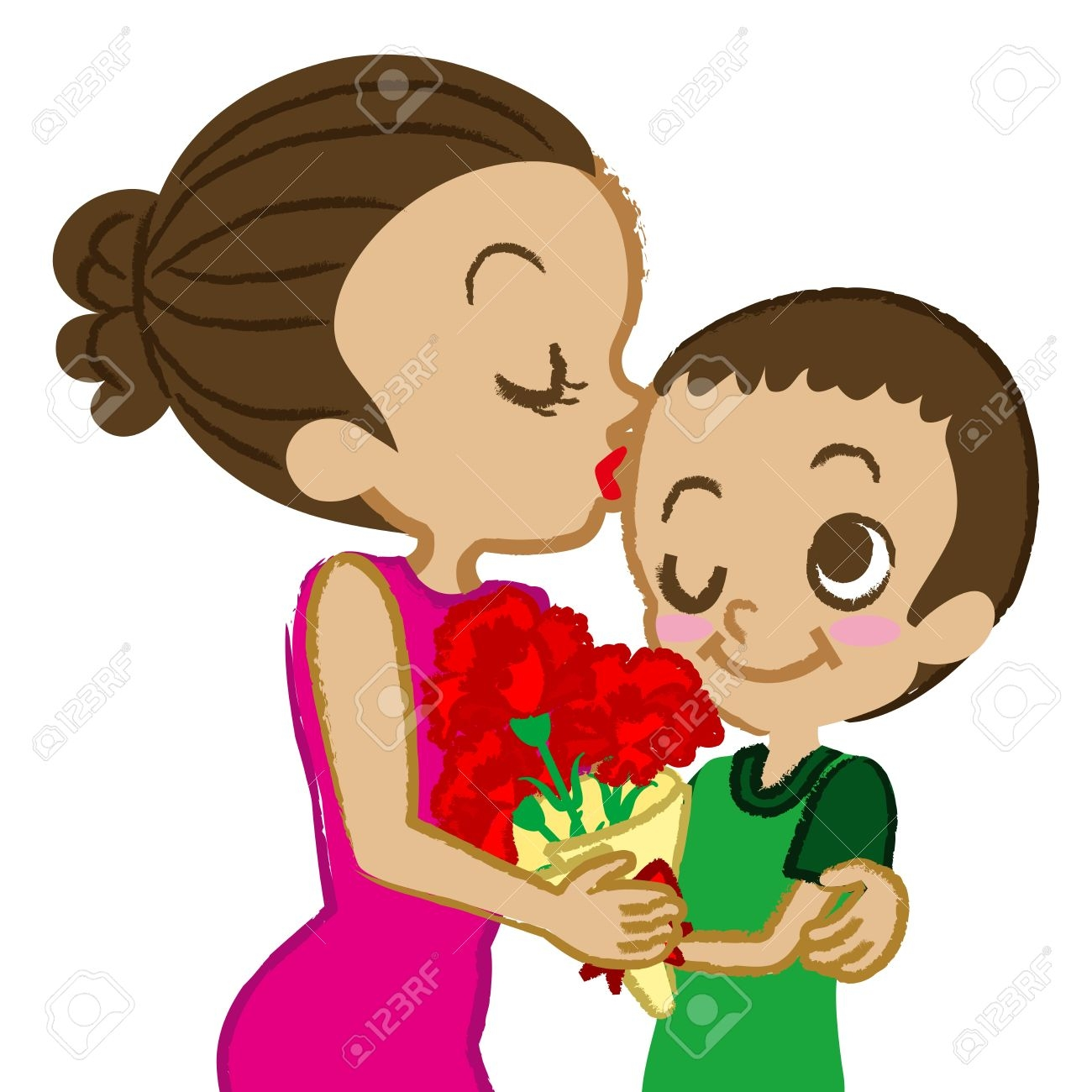 1300x1300 Mommy Clipart Kiss