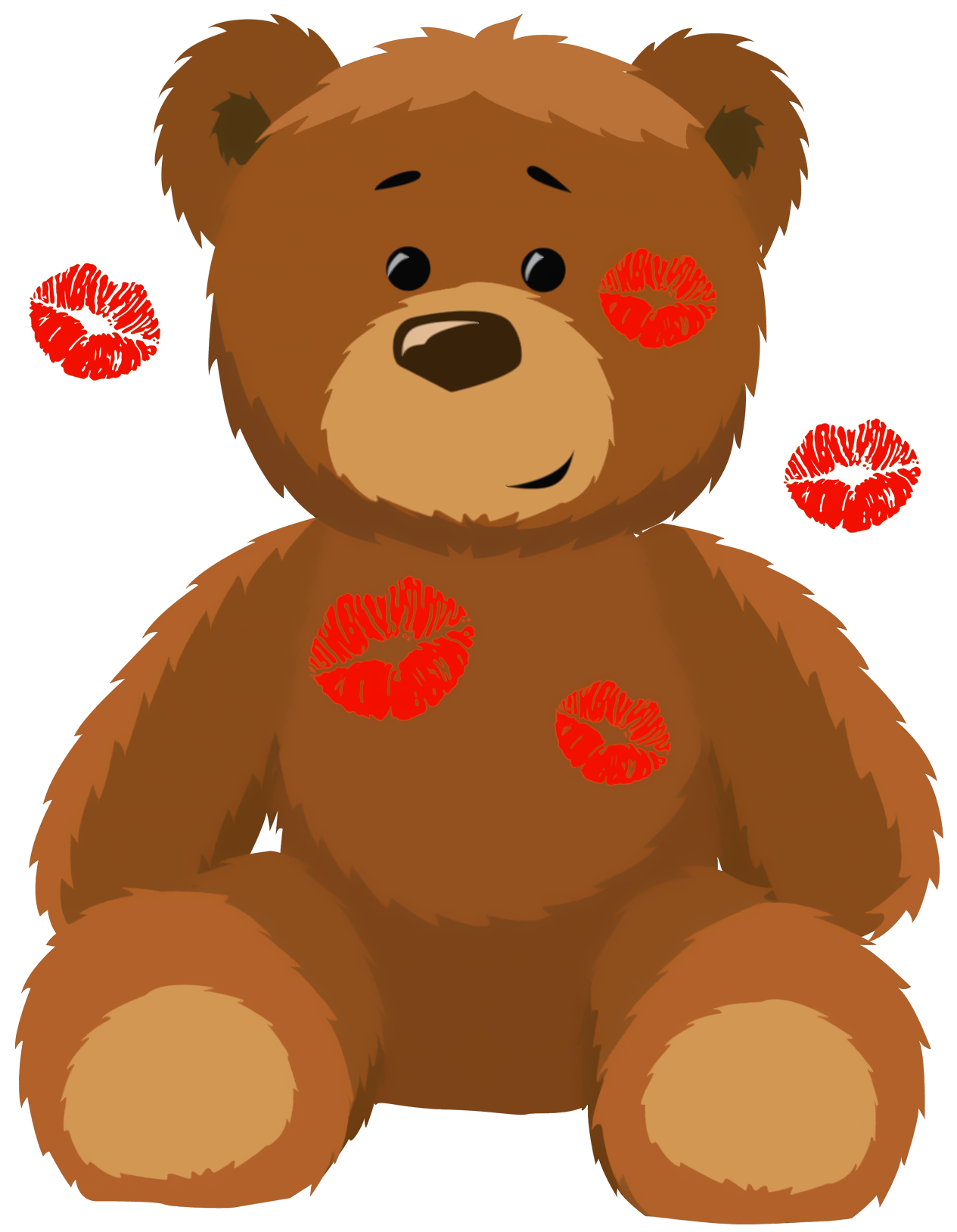 1265x1628 Cute Bear With Kisses Png Clipart Picture Clip Art (Teddy Bears