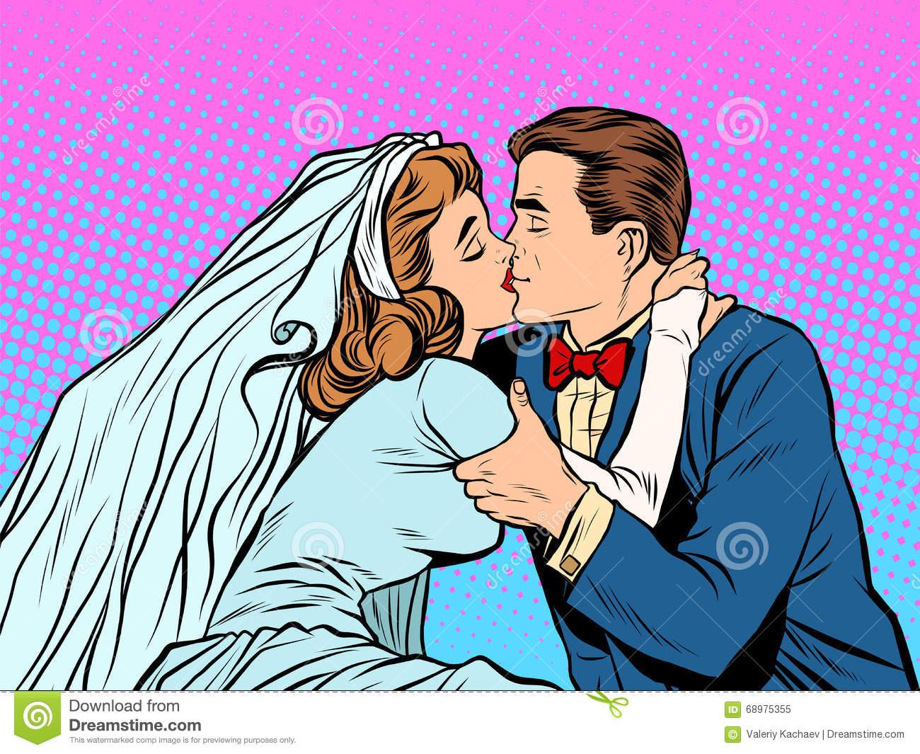 1300x1065 Kiss Clipart Retro Wedding