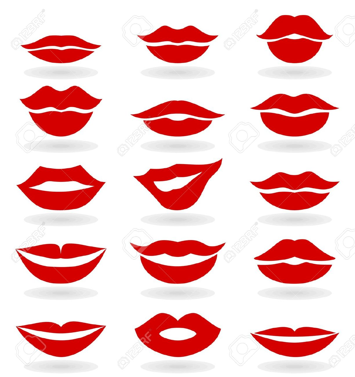 1225x1300 Kisses Clipart Lip Outline