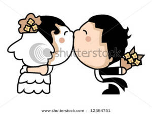 300x225 Kisses Clipart Wedding Kiss