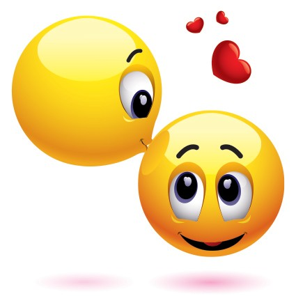 425x425 Kissing Clipart Smile