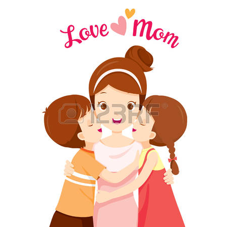 450x450 Mommy Clipart Kiss