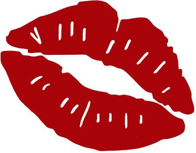 400x312 Red Kiss Cliparts