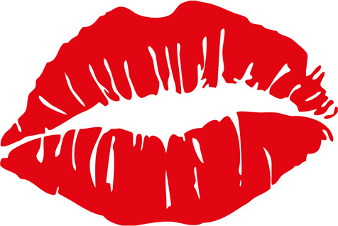 476x318 Lips Clipart Silhouette