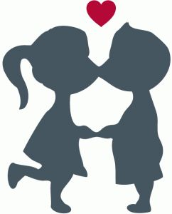Romantic kiss. Kissing clipart free download