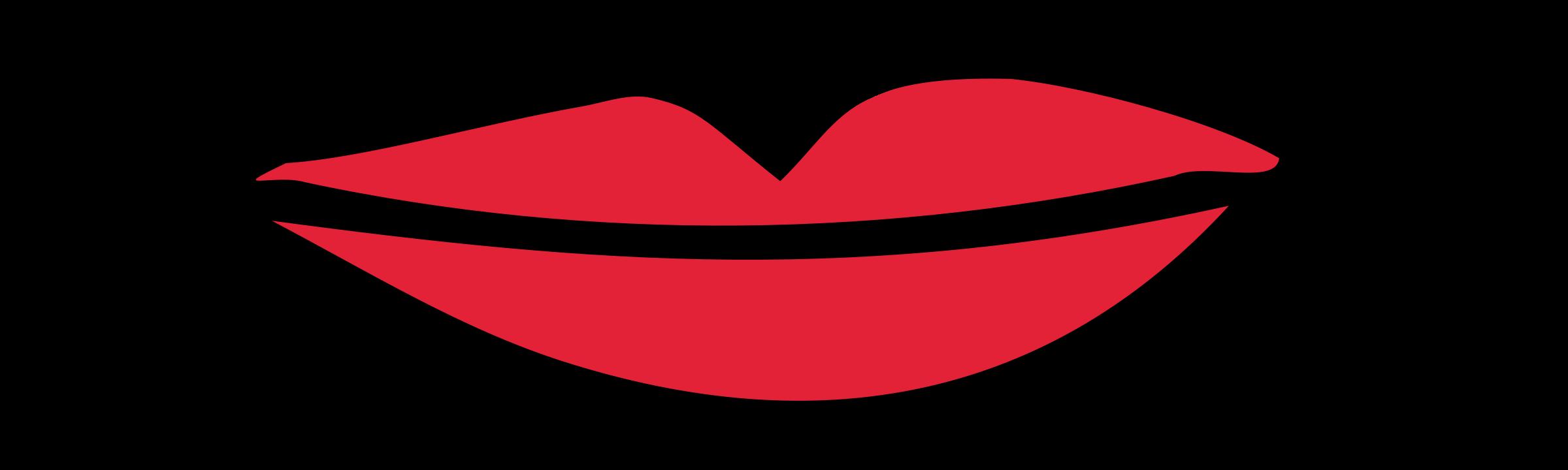 2400x720 Kissing Clipart Lipps