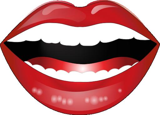 512x369 Laughing Lips Clip Art
