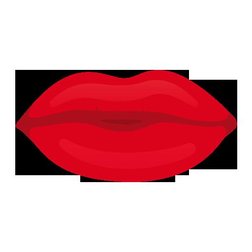 512x512 Image Of Kissy Lips Clip Art