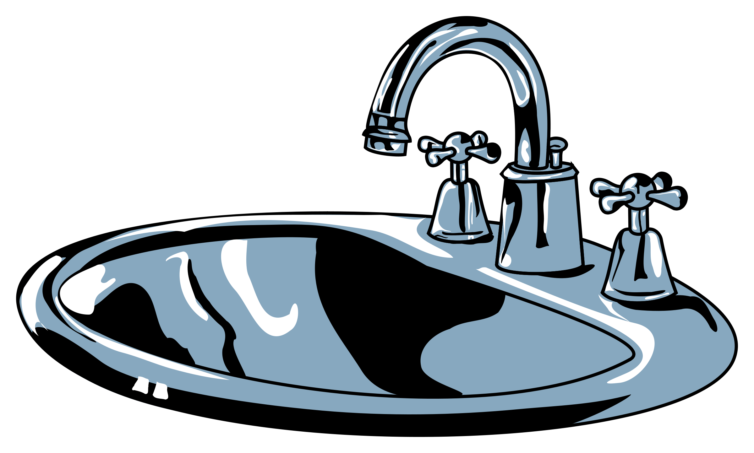 2400x1443 Kitchen Sink Clip Art