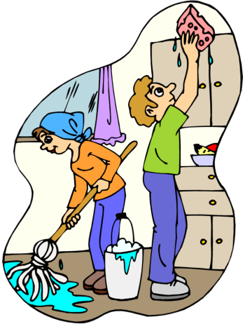 350x462 Kitchen Clipart Kitchen Cleaning