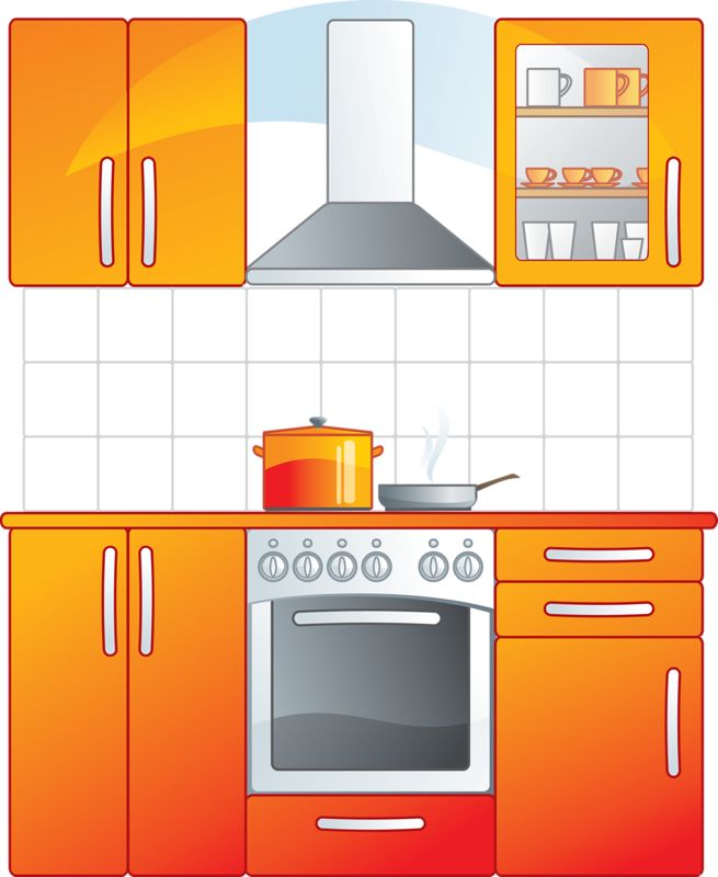 655x800 The Kitchen Clipart Kitchen Room