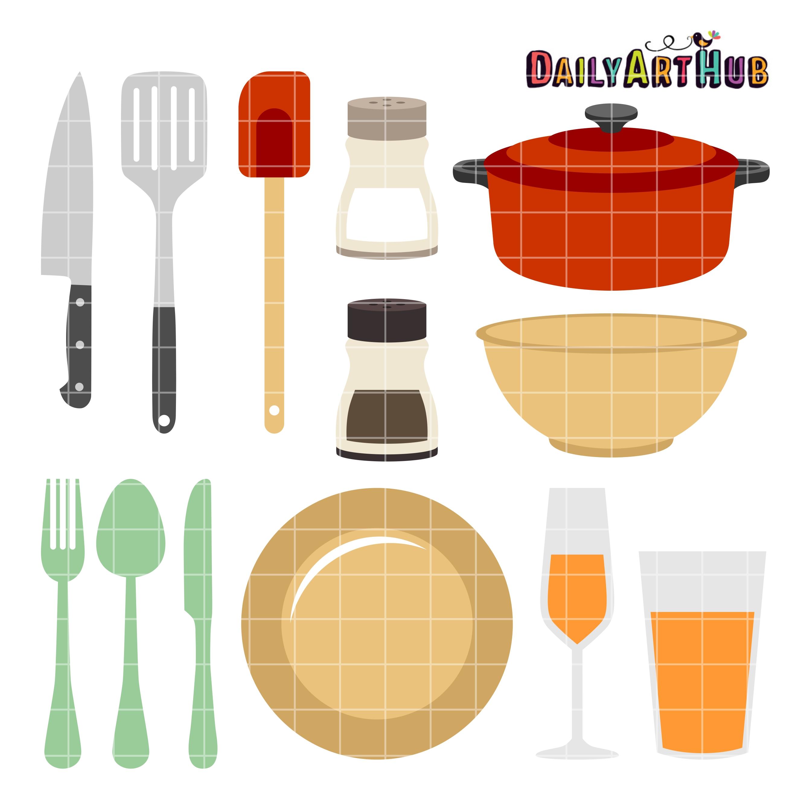 2664x2670 Kitchen Things Clip Art Set Daily Art Hub