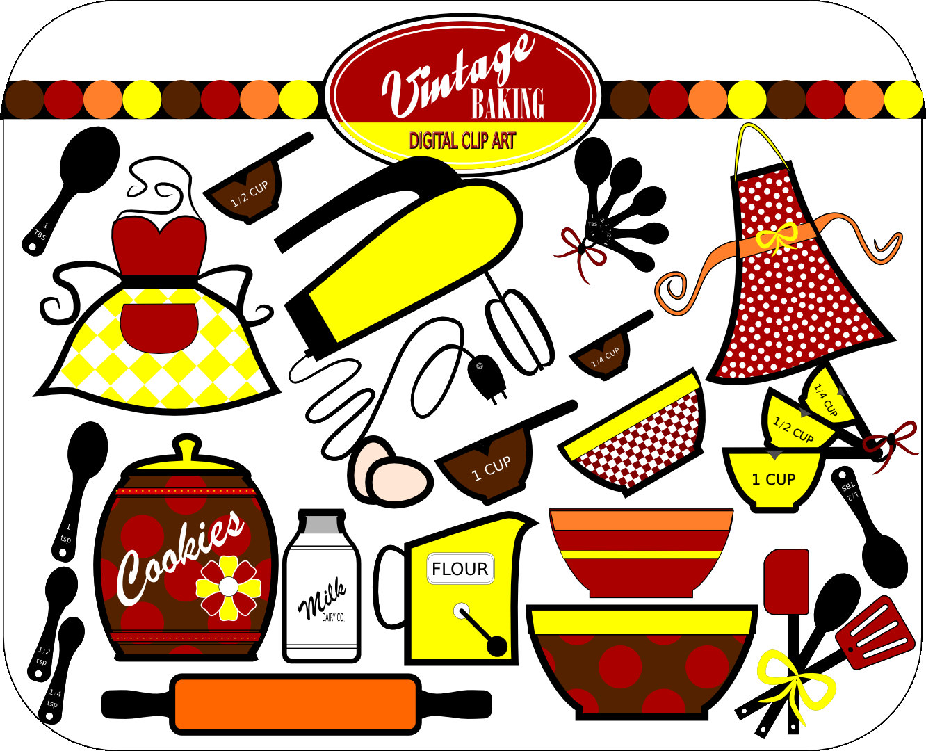 1332x1080 Kitchen Cooking Utensils Clipart Free Images 2