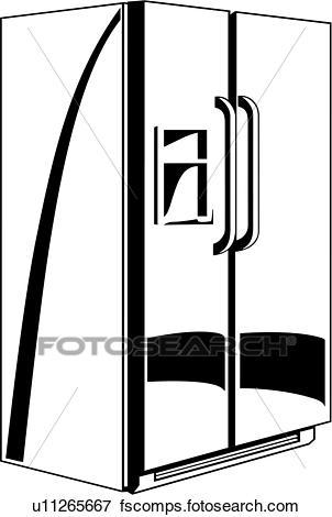 302x470 Clip Art Of , Appliance, Kitchen, Refrigerator, U11265667