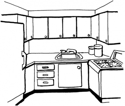 Kitchen Clipart Black And White | Free download on ClipArtMag