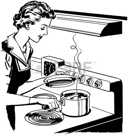 Kitchen Clipart Black And White   Free download best ...