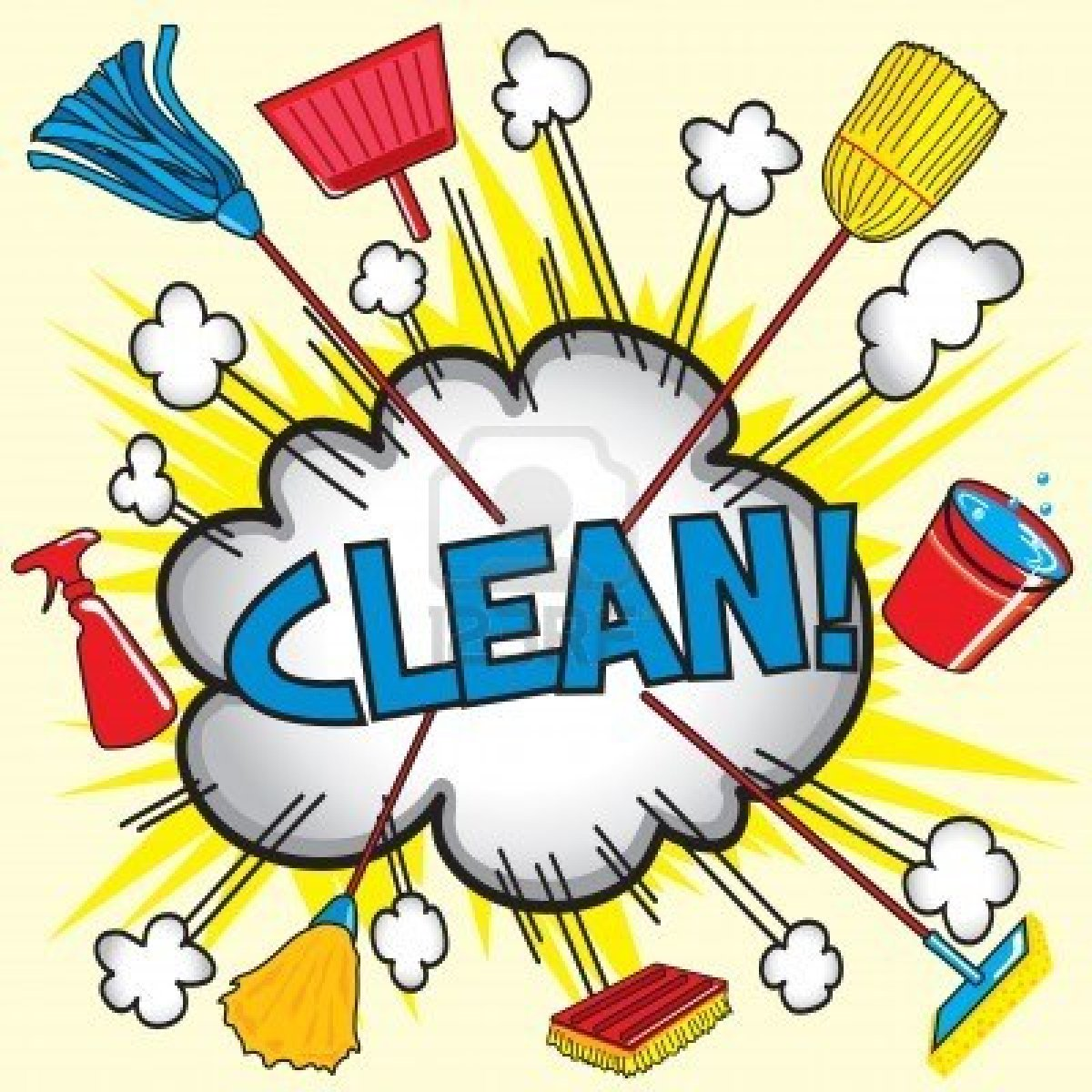 1200x1200 Kitchen Clean Up Clipart