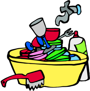 350x354 Dirty Dishes In Sink Clipart