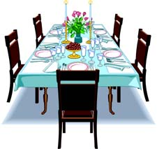 225x213 Furniture Clipart Kitchen Table