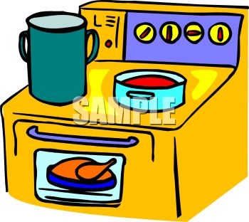 350x312 Cartoon Kitchen Clipart