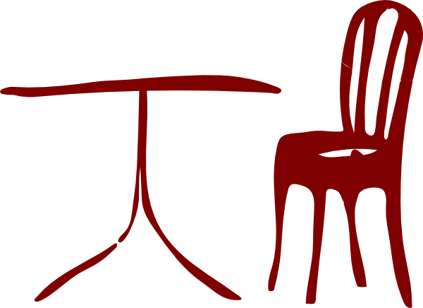 600x436 Table Chair Clip Art