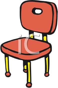 233x350 Cartoon Of A Kitchen Chair