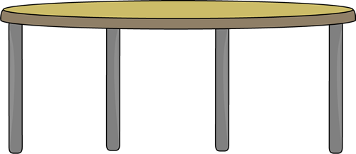 500x217 Circle Table Clipart