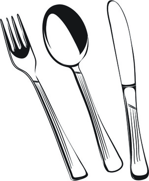 X Kitchen Cutlery Free Vector Download  Free Vector
